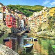 The Harbor At Rio Maggiore Poster