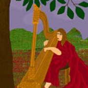 The Harpist Poster