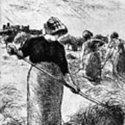 The Hayymaker Camille Pissarro Poster
