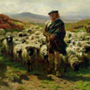The Highland Shepherd Poster by Rosa Bonheur