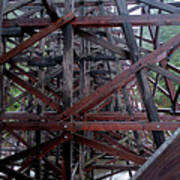 The Historic Kinsol Trestle  Inside View Poster