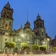 The Historical Mexico City Metropolitan Cathedral Poster
