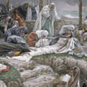 The Holy Virgin Receives The Body Of Jesus Poster by Tissot