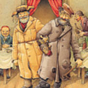 The Honest Thief 01 Illustration For Book By Dostoevsky Poster by Kestutis Kasparavicius
