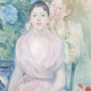 The Hortensia Poster by Berthe Morisot