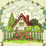 The House At The End Of Storybook Lane Poster