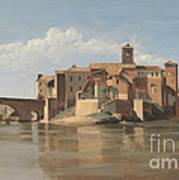 The Island And Bridge Of San Bartolomeo - Rome Poster