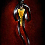 The Key Of Melencolia   With Red Tones Poster