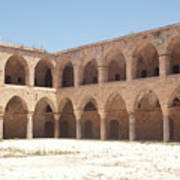 The Khan, Also Known As A Caravanserai, In Akko, Israel Poster