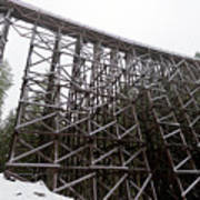 The  Koksilah River Trestle With Snow 1. Poster