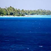 The Lagoon At Rangiroa Atoll Poster by Tim Laman