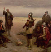 The Landing Of The Pilgrim Fathers Poster
