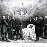 The Last Moments Of President Lincoln Poster by Photo Researchers