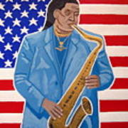 The Late Great Clarence Clemons Poster by Eamon Reilly