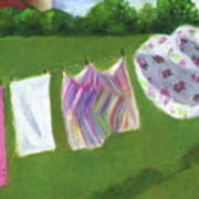 The Laundry On The Line Poster