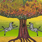 The Life-giving Tree. Poster by Jarle Rosseland