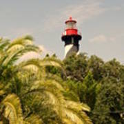 The Lighthouse In Saint Augusrtine Fl Poster