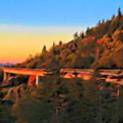 The Linn Cove Viaduct At Sunrise Poster