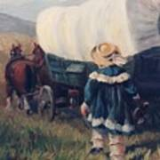 The Little Pioneer Western Art Poster by Kim Corpany