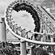 The Loop Black And White Poster