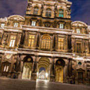 The Louvre Museum At Night Poster
