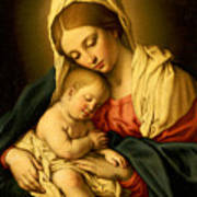 The Madonna And Child Poster by Il Sassoferrato