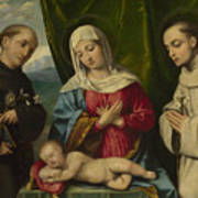 The Madonna And Child With Saints Poster