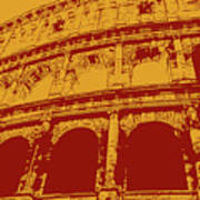 The Majestic Colosseum Of Rome Poster