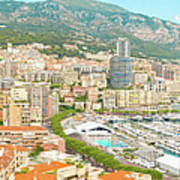 The Marina In Monaco Poster