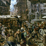 The Market Of Verona Poster