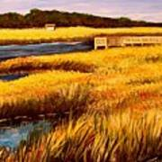 The Marsh At Cherry Grove Myrtle Beach South Carolina Poster