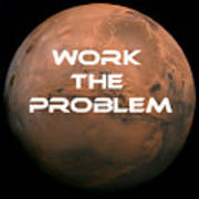 The Martian Work The Problem Poster