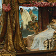 The Meeting Of Antony And Cleopatra By Lawrence Alma-tadema Poster
