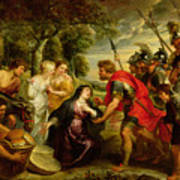The Meeting Of David And Abigail Poster by Peter Paul Rubens