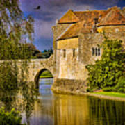 The Moat At Leeds Castle Poster