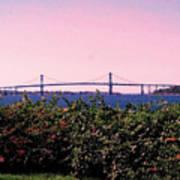 The Mt Hope Bridge Bristol Rhode Island Poster