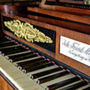 The Musical Keyboard Of Johann Friedrich Marty Antique Grand Piano Poster