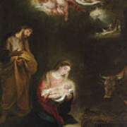 The Nativity With The Annunciation To The Shepherds Beyond Poster