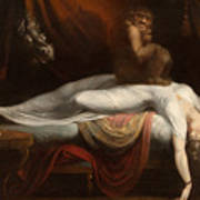 The Nightmare Poster by Henry Fuseli