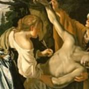 The Nursing Of Saint Sebastian Poster by Theodore van Baburen