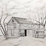 The Old Barn Inwinter Poster