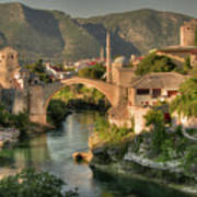The Old Bridge Of Mostar  Poster