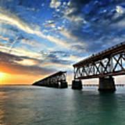 The Old Bridge Sunset - V2 Poster