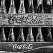 The Old Coke Stack In Black And White Poster
