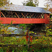 The Old Creamery Covered Bridge Poster