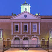 The Old Exchange And Provost Dungeon At Twilight Charleston South Carolina Poster