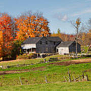 The Old Farm In Autumn Poster by Louise Heusinkveld
