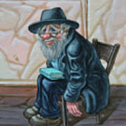The Old Man Near The Western Wall Poster