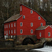 The Old Mill In Clinton Nj Poster