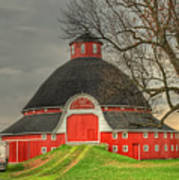 The Old Round Barn Of Ohio Poster